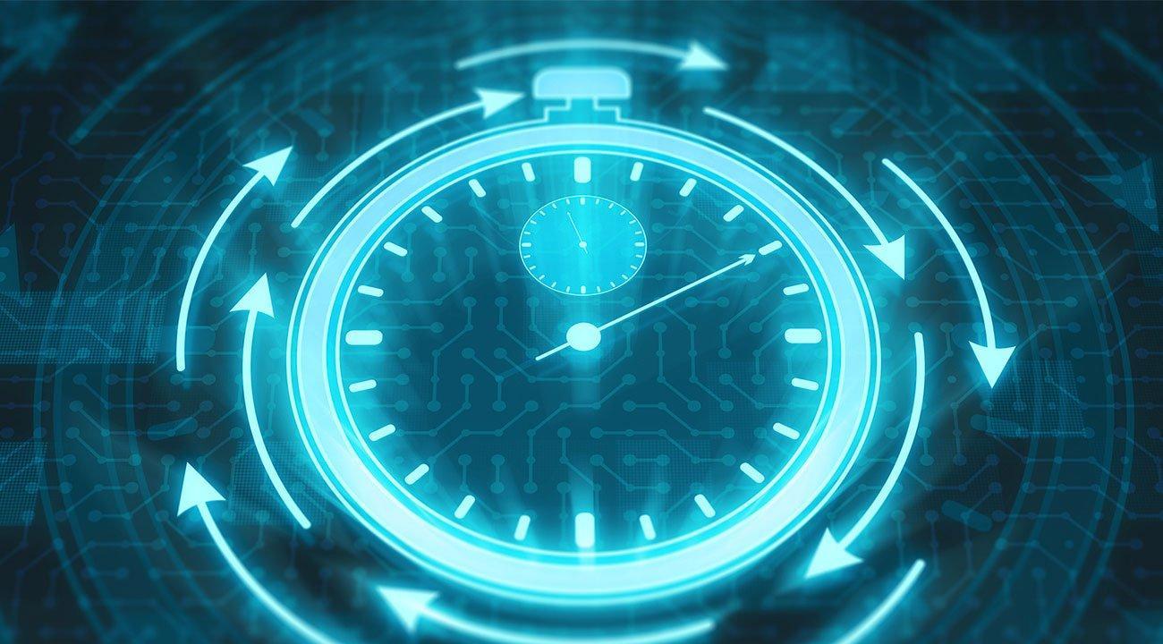 Futuristic stopwatch