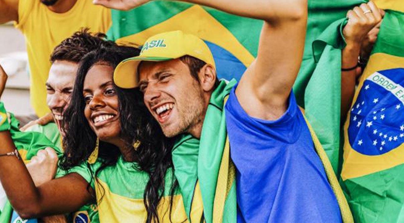 Soccer fans cheering in Latin America