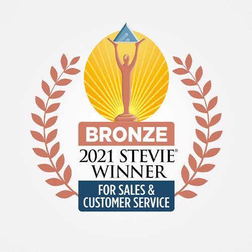 Stevie-2021-Sales-Customer-Service-Bronze-Award-500x500